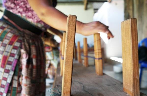 Guatemalan Back strap weaving